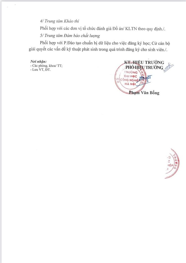 Tổ chức làm ĐA/KLTN sinh viên ĐH các khóa HK phụ năm học 2020 – 2021