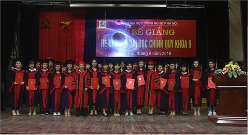 Lễ Bế giảng và trao bằng cử nhân cho sinh viên tốt nghiệp năm 2018