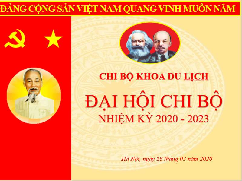 Đại hội Chi bộ Khoa Du lịch nhiệm kỳ 2020-2023